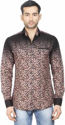 Human Steps Men's Printed Casual Brown Shirt