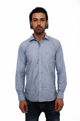 Seahawk Men's Solid Casual Grey, Blue Shirt