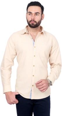 Urban Republic Men's Solid Casual Beige Shirt