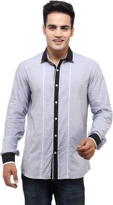 See Designs Men,s Solid Casual Grey Shirt