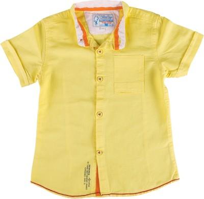 Biker Boys Boy's Solid Casual Yellow Shirt
