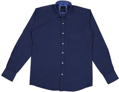 Esoft Men's Striped Casual Blue Shirt