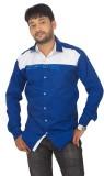 Modo Vivendi Men's Self Design Casual Bl...