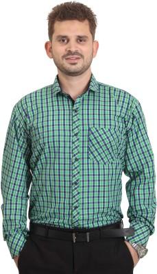 The Standard Men's Printed Casual Green Shirt