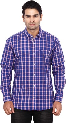 ANDY TRENDZ Men's Checkered Casual Purple Shirt