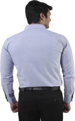Lee Marc Men's Solid Formal Blue Shirt