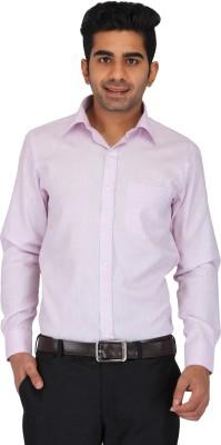 Prague Fashion Men's Solid Formal Purple Shirt
