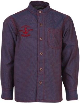 Bells and Whistles Boy's Solid Casual Purple Shirt