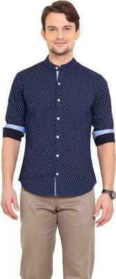 Western Vivid Men's Printed Casual Blue Shirt