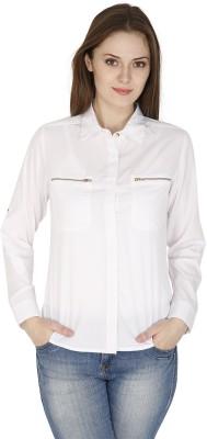 pinaki perryhills Women's Solid Casual White Shirt