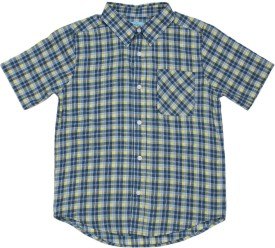 The Children's Place Boys Checkered Casual Blue Shirt