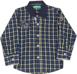 Palm Tree Boys Checkered Casual Multicol...