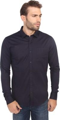 Calvin Klein Men's Solid Casual Purple Shirt
