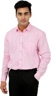 Rose Wear Men's Solid Formal Pink Shirt