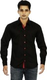 Binnote Men's Solid Casual Black Shirt