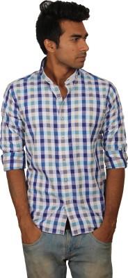Brumax Men's Checkered Casual Green, Blue, Beige, White Shirt