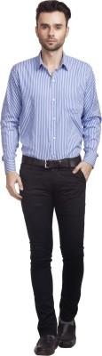 Zuricch Men's Checkered Casual Blue Shirt
