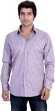 25th R Men's Printed Casual Pink Shirt