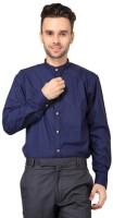 Hutz Formal Shirts (Men's) - Hutz Men's Solid Formal Dark Blue Shirt