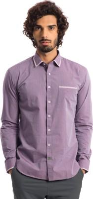 Specimen Men's Solid Casual Purple Shirt