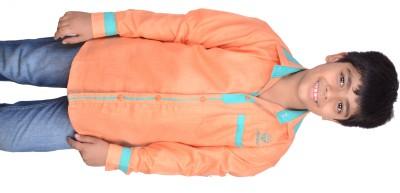 Kiaraa Boy's Solid Casual Orange Shirt