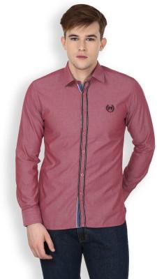 Cotton County Premium Men's Solid Casual Maroon Shirt