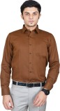 Kriss Men's Solid Casual Brown Shirt