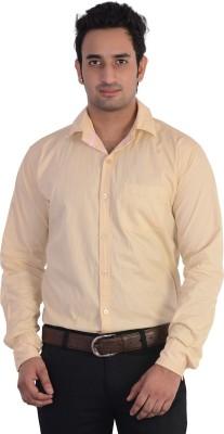 Mild Kleren Men's Solid Casual Beige Shirt