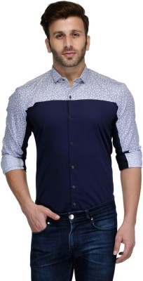 Edjoe Men's Printed Casual Multicolor Shirt