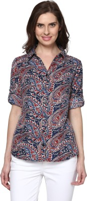 TheGudLook Women,s Printed Casual Multicolor Shirt