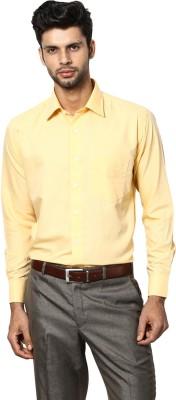 Shaftesbury London Men's Solid Casual Yellow Shirt