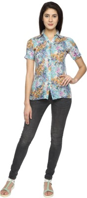 Texco Garments Women's Printed Casual Multicolor Shirt