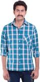SML Originals Men's Checkered Formal Blu...