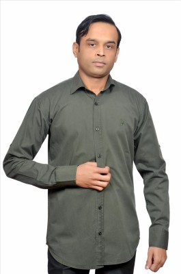 Adam In Style Men's Solid Casual Green Shirt