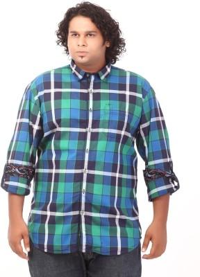 Ciroco Men's Checkered Casual Green Shirt