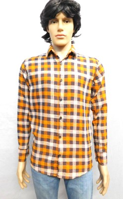 FINCH FEATHER Men's Checkered Casual Multicolor Shirt