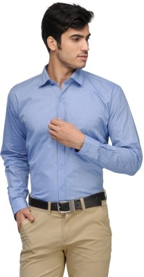 Vicbono Men's Solid Formal Light Blue Shirt