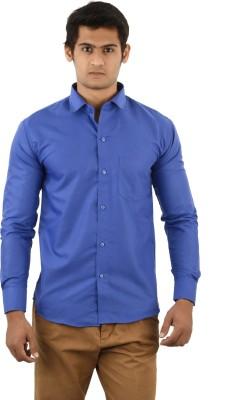 Aurus Men's Solid Formal Dark Blue Shirt