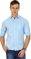 Sparky Formal Shirts (Men's) - Sparky Men's Solid Formal Blue Shirt