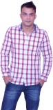 Trish Men's Checkered Casual White, Red ...