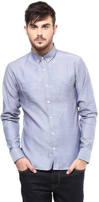 Marcello And Ferri Men's Solid Casual Grey Shirt