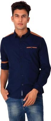 Blacksoul Men's Solid Casual Purple Shirt