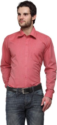 Ausy Men's Solid Casual Red Shirt