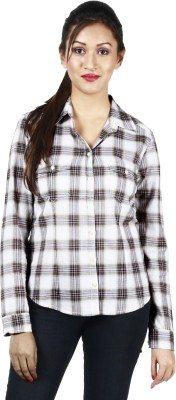 Kasturi Women's Checkered Casual Black Shirt
