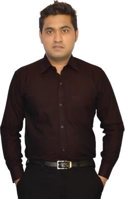 StyloFashionGarments Men's Solid Formal Maroon Shirt