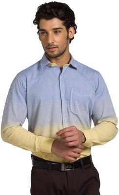 Klub Fox Men's Solid Casual Yellow Shirt