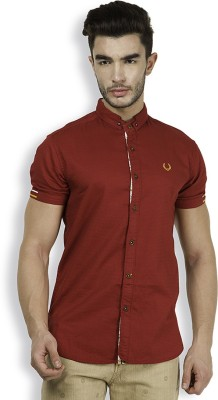 The Indian Garage Co. Men,s Solid Casual Red Shirt