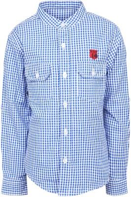 Silver Streak Boy's Checkered Casual Light Blue Shirt