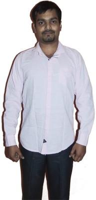 D Shape Men's Solid Casual Pink Shirt
