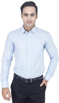 Euromens Men's Solid Formal Blue Shirt
